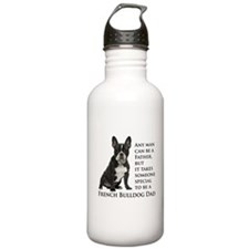 Frenchie Dad Water Bottle