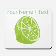 Custom Sliced Lime Mousepad