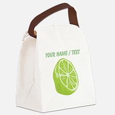 Custom Sliced Lime Canvas Lunch Bag