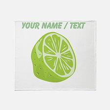 Custom Sliced Lime Throw Blanket