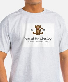 """Year of the Monkey"" Ash Grey T-Shirt"