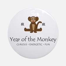 """Year of the Monkey"" Ornament (Round)"