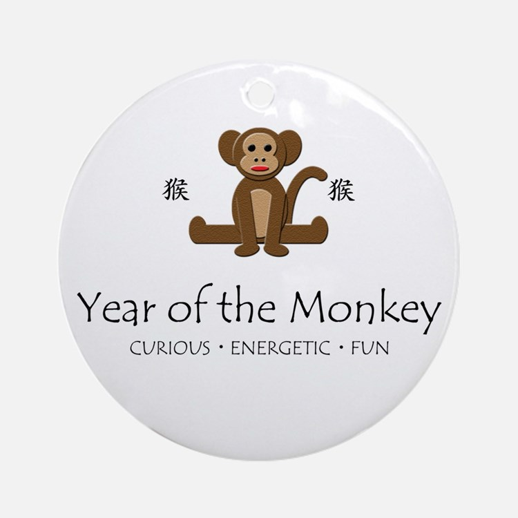 """""""Year of the Monkey"""" Ornament (Round)"""