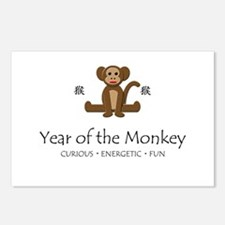 """""""Year of the Monkey"""" Postcards (Package of 8)"""