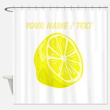 Custom Sliced Lemon Shower Curtain