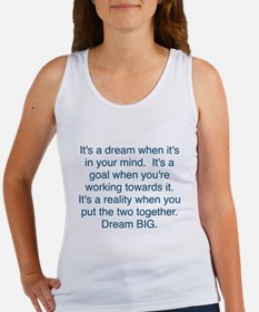 Dream + Goal = Reality Tank Top