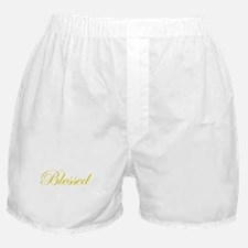 Gold Blessed Boxer Shorts