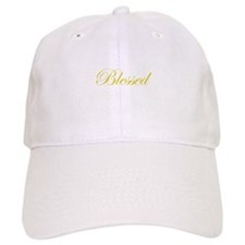 Gold Blessed Baseball Cap