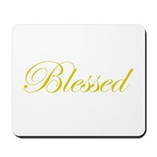 Gold Blessed Mousepad