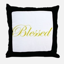 Gold Blessed Throw Pillow