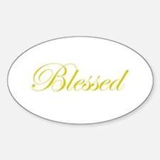Gold Blessed Oval Decal