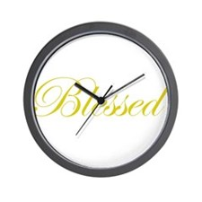 Gold Blessed Wall Clock