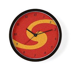 Orange Swirl 13 Hour Wall Clock