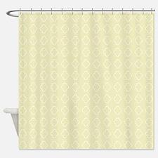 Pale Yellow Quatrefoil pattern Shower Curtain