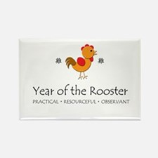 """Year of the Rooster"" Rectangle Magnet"