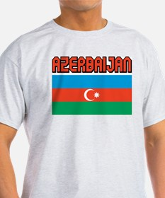 Azerbaijan Flag Ash Grey T-Shirt