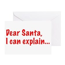 Dear Santa, I can explain... Greeting Cards