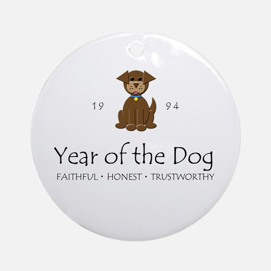 """Year of the DOg"" [1994] Ornament (Round)"