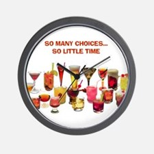 So Many Drinks...So Little Time Wall Clock