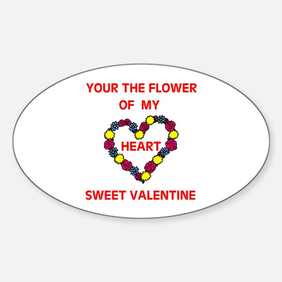 FLOWER OF MY HEART Oval Decal