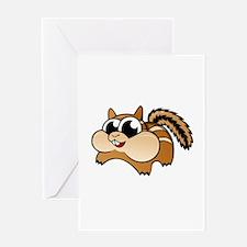 Cartoon Chipmunk Greeting Cards