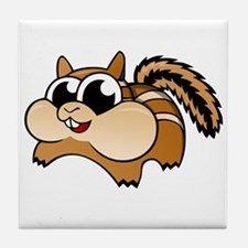 Cartoon Chipmunk Tile Coaster