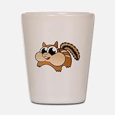 Cartoon Chipmunk Shot Glass