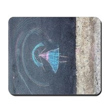 Child's Chalk Drawing of a Girl Mousepad