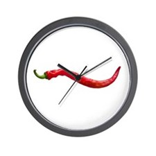 Red Hot Cayenne Chili Pepper Wall Clock