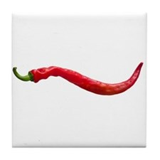 Red Hot Cayenne Chili Pepper Tile Coaster