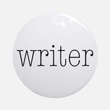 Writer Ornament (Round)