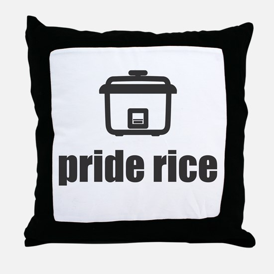 """Pride Rice"" [Light] Throw Pillow"