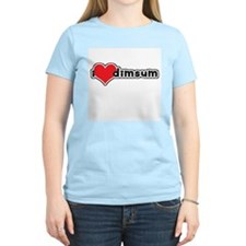 """I Love Dim Sum"" Women's Pink T-Shirt"