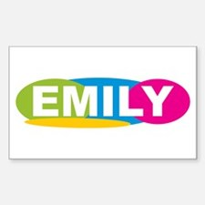 """Emily Oval Colors"" Rectangle Decal"