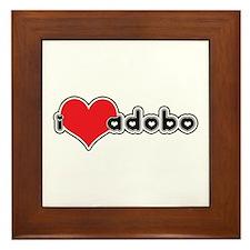 """""""I Love Adobo"""" Framed Tile"""