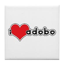 """""""I Love Adobo"""" Tile Coaster"""