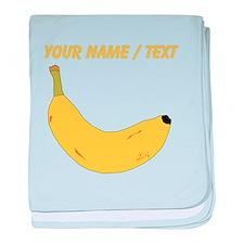 Custom Banana baby blanket