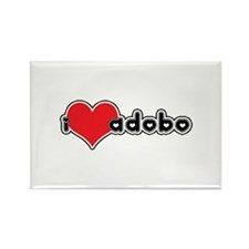 """I Love Adobo"" Rectangle Magnet"