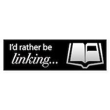 I'd rather be linking MYST bumper sticker
