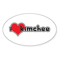 """I Love Kimchee"" Oval Decal"