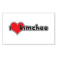 """""""I Love Kimchee"""" Rectangle Decal"""