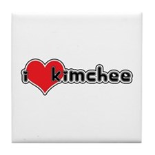 """I Love Kimchee""  Tile Coaster"