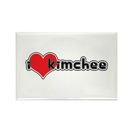 """""""I Love Kimchee"""" Rectangle Magnet"""
