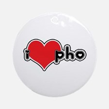 """I Love Pho"" Ornament (Round)"