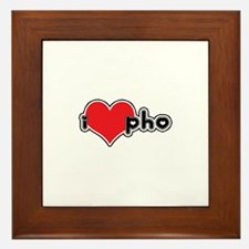 """I Love Pho"" Framed Tile"