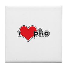 """I Love Pho"" Tile Coaster"
