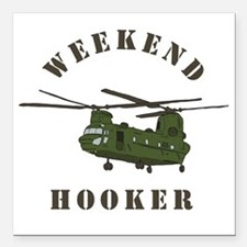 "Weekend Hooker Square Car Magnet 3"" x 3"""