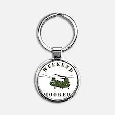Weekend Hooker Round Keychain