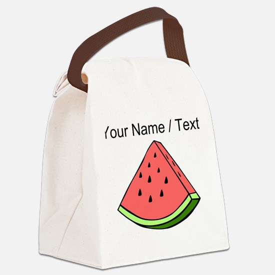 Custom Watermelon Slice Canvas Lunch Bag
