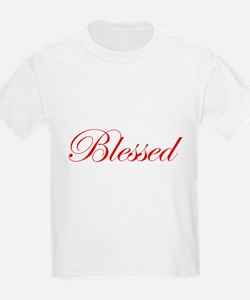 Red Blessed Kids T-Shirt